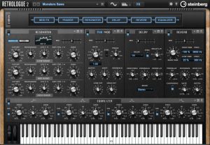 De Retrologue analoge synth in CUBASE 8.5 pro
