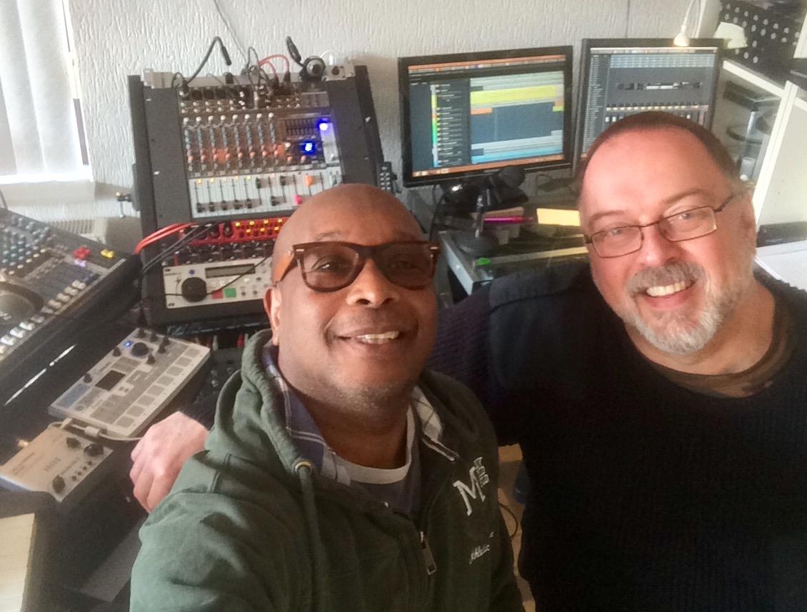 Eddie en Frans in de MUTAZE-studio